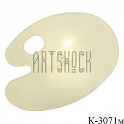 Палитра пластиковая плоская, овальная, 21 х 30 см., REGINA купить в Киеве и Украине в художественном магазине