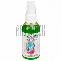 Краска - спрей для ткани, Grass Green / Травяной Зеленый, 100 мл., Cadence Your Fashion Spray Fabric Paint
