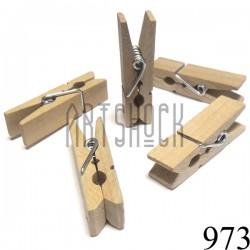 Набор неокрашенных деревянных декоративных прищепок, 1.1 x 4.5 см., 5 штук, REGINA