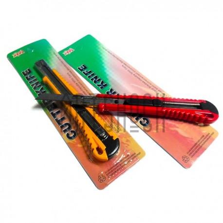 Нож канцелярский 9 мм. с металлической направляющей, XINFA | Купить канцелярские офисные ножи в Киеве