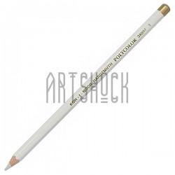 Белый карандаш для художников и рисования бликов, шестигранный, Koh-I-Noor