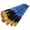 Кисть синтетическая Shine Blue (10214), овальная, REGINA