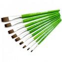 Кисть синтетическая Green Leaf (0183F), плоская, Bergino