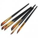 Кисть синтетическая универсальная Black Gold (RG-10052), скошенная, REGINA